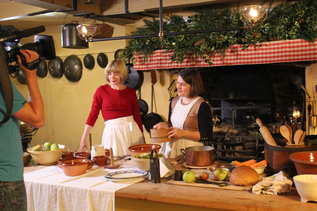 Lucy Worsley BBC filming